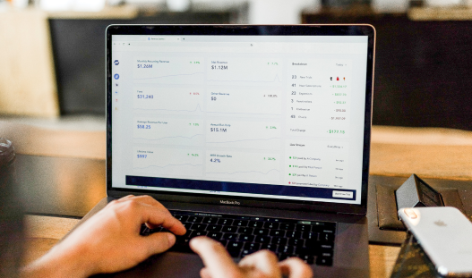 Laptop with ecommerce dashboard-1